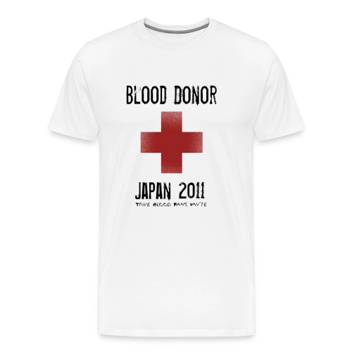 True Blood Donor - Aid to Japan - Men's Premium T-Shirt