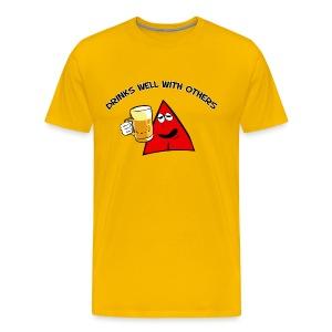 Sneables Men's beer drinking t-shirt - Men's Premium T-Shirt
