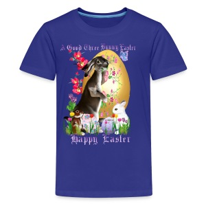 A Good Three Bunny Easter (lettered) - Kids' Premium T-Shirt