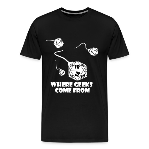 Where Geeks Come From - Men's Premium T-Shirt