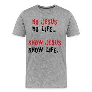 no jesus no life - Men's Premium T-Shirt