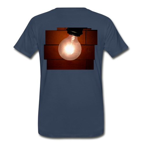 Men's 3XL T-Shirt - Brick Bulb White Lettering - Front and Back - Men's Premium T-Shirt
