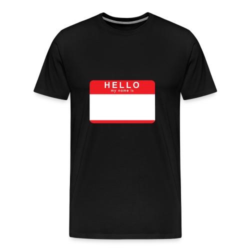 Hello My Name Is; Black Sleeveless - Men's Premium T-Shirt