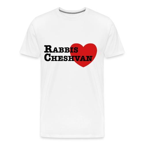 RabbisHeartCheshvan - White - Men's Sizes - Men's Premium T-Shirt