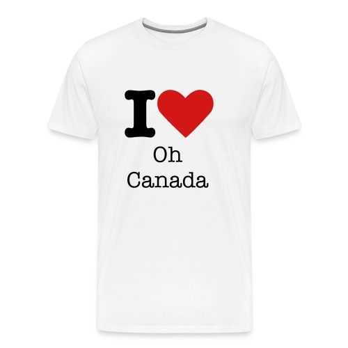 I Love Oh Canada - Men's Premium T-Shirt