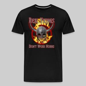 Real Vikings Don't Wear Horns - Black T-Shirt - Men's Premium T-Shirt