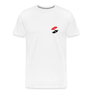GS small logo - white - Men's Premium T-Shirt