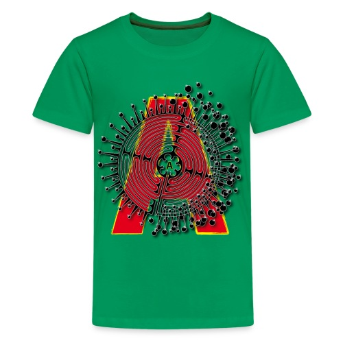 A Initial ABC Shirt - Name - Letter Fashion Design - Birthday - Gift - Kids' Premium T-Shirt
