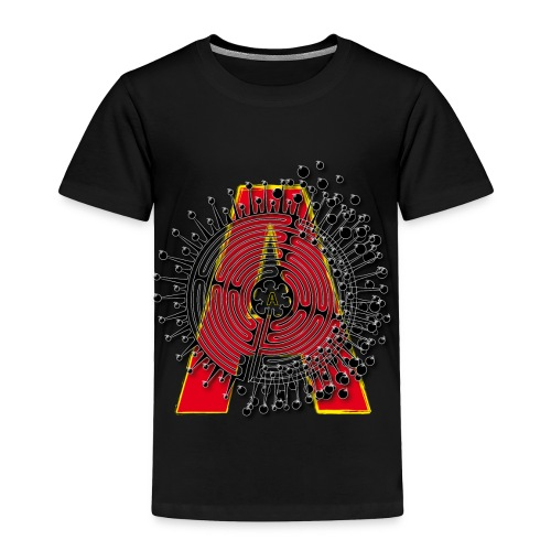 A Initial ABC Shirt - Name - Letter Fashion Design - Birthday - Gift - Toddler Premium T-Shirt