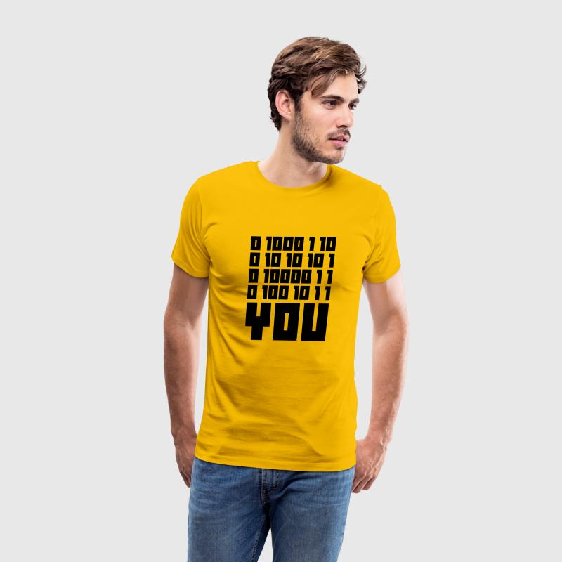 Fuck You - Binary Code T-Shirts - Men's Premium T-Shirt
