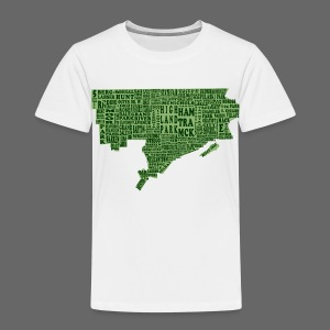 Green Detroit Neighborhoods Map Toddler T-Shirt - Toddler Premium T-Shirt