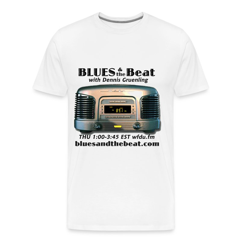 Blues & the Beat 3XL t-shirt (white) - Men's Premium T-Shirt