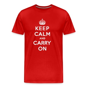 Keep Calm and Carry On Mens T-Shirt - Men's Premium T-Shirt