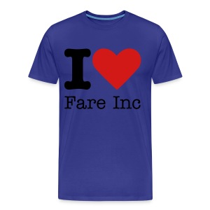 I love Fare Inc. Shirt - Men's Premium T-Shirt