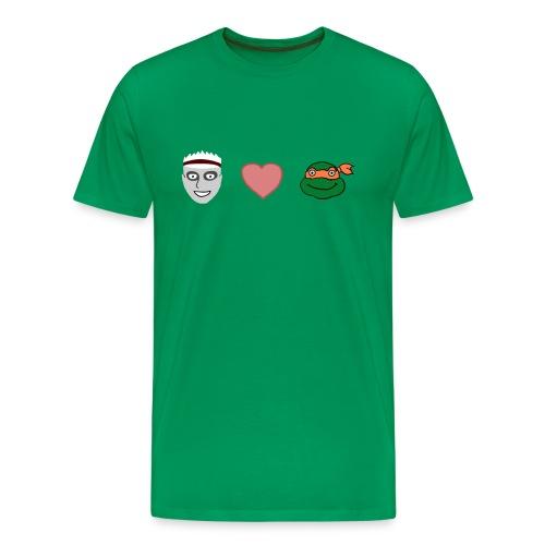 Zombie Kid Loves Turtles 3XL - Men's Premium T-Shirt