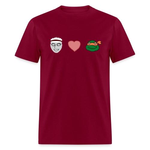 Zombie Kid Loves Turtles Men's Heavyweight T-Shirt - Men's T-Shirt