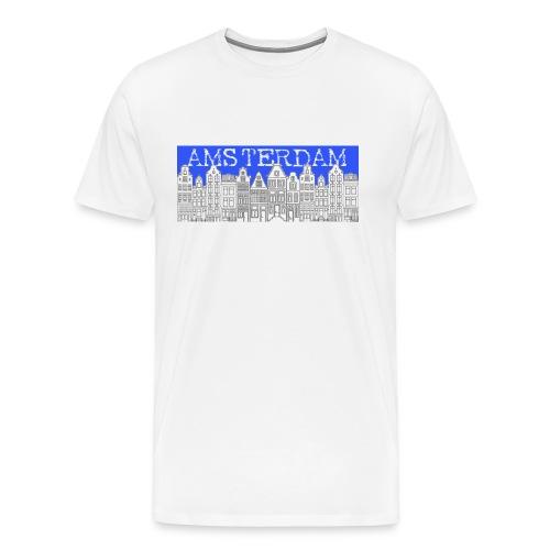 Amsterdam Canal Houses Male Regular Fit - Men's Premium T-Shirt