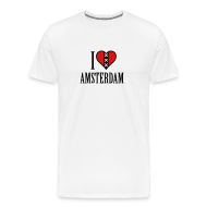 T-Shirts ~ Men's Premium T-Shirt ~ I Love Amsterdam Men's Heavyweight T-shirt