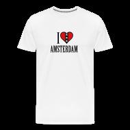 T-Shirts ~ Men's Premium T-Shirt ~ I Love Amsterdam Men's Heavyweight T-shirt