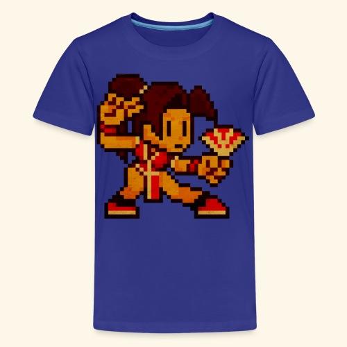 Pixelfighter ButterflyGirl (Vintageprint) - Kids' Premium T-Shirt