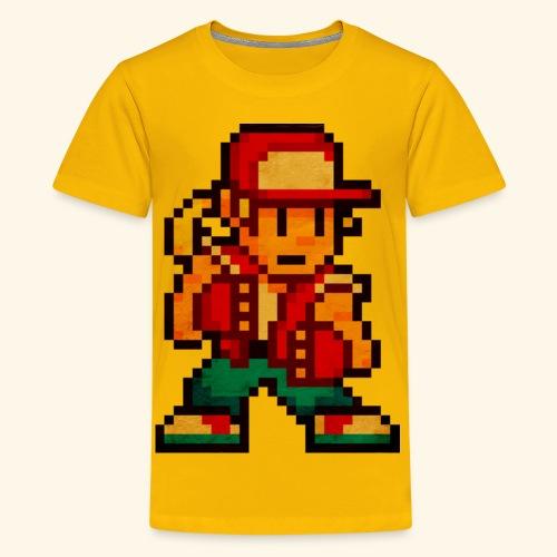 Pixelfighter HungryWolf (Vintageprint) - Kids' Premium T-Shirt