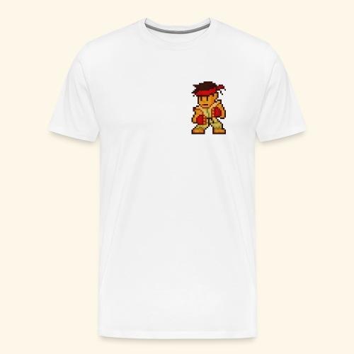 Pixelfighter Karateka (Vintageprint) - Men's Premium T-Shirt