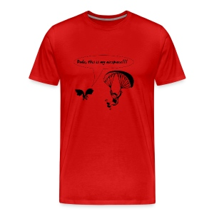 Paragliding Shirt - Paraglider and Eagle's Airspace - Men's Premium T-Shirt