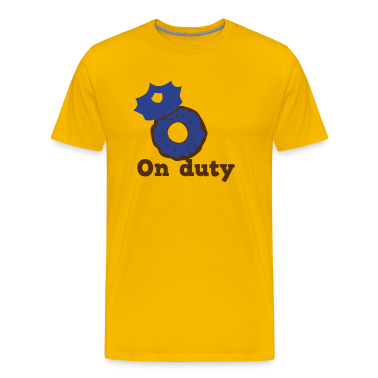 on duty doughnut police hat T-Shirts