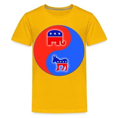 Republican Democrat Yin Yang Kids' Shirts