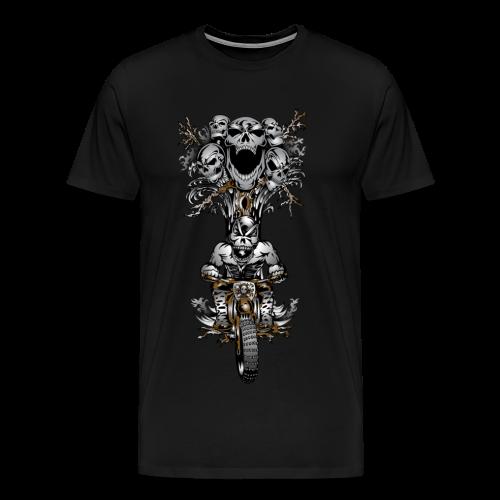 Skull Tree Dirt Biker - Men's Premium T-Shirt