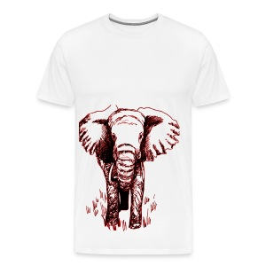 ELEPHANT COMING BY AES - Men's Premium T-Shirt