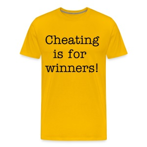 T-shirt Cheating is for winners! - Uncomfortable Tees - Men's Premium T-Shirt