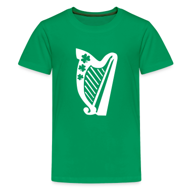 Irish harp Kids' Shirts