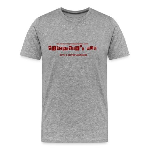 Trickster's Men's Heavyweight T red print - Men's Premium T-Shirt