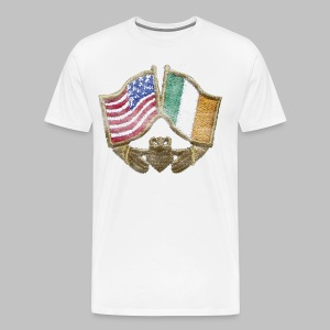USA Ireland Friendship Men's 3XL XXXL T-Shirt - Men's Premium T-Shirt
