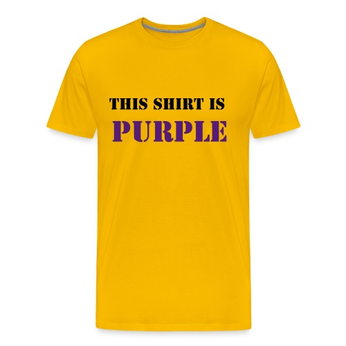 Purple - Men's Premium T-Shirt