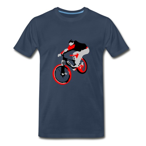 Mountain Bike Shirt - Ollie - Trial Bike - Men's Premium T-Shirt