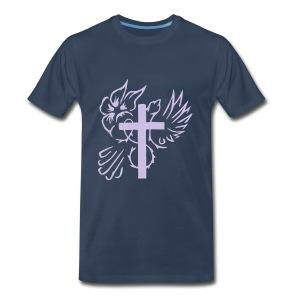 Cross/Dove outline - Men's Premium T-Shirt