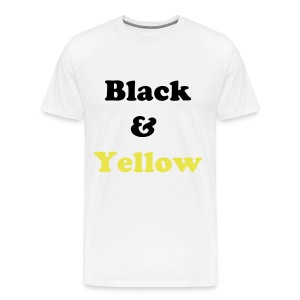 Black & Yellow - White - Men's Premium T-Shirt