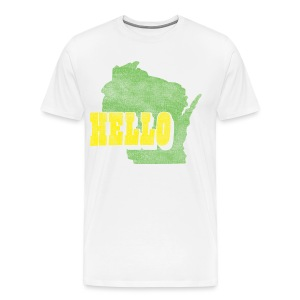 Hello Wisconsin - Men's Premium T-Shirt