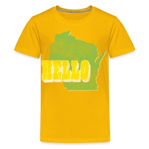 Hello Wisconsin - Kids' Premium T-Shirt