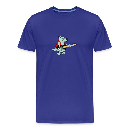 Guitar Dog - Men's - Men's Premium T-Shirt