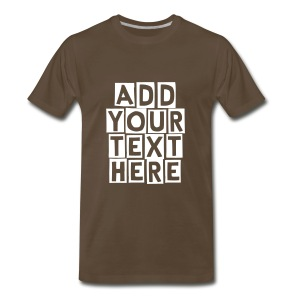 CREATE YOUR OWN T-SHIRT - Men's Premium T-Shirt