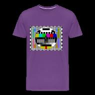 T-Shirts ~ Men's Premium T-Shirt ~ Sheldon TV Test Pattern T-Shirt