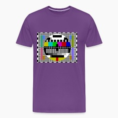 Sheldon TV Test Pattern Purple T-Shirt