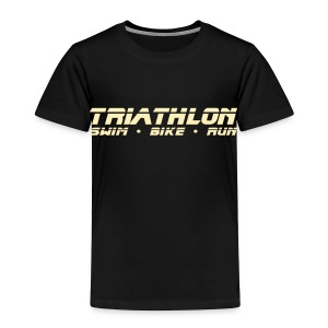 Triathlon Sleek Design Toddler T-Shirt - Toddler Premium T-Shirt