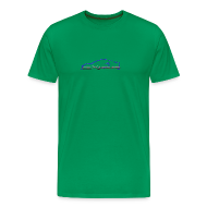 T-Shirts ~ Men's Premium T-Shirt ~ Exige / Simplify: Heavyweight t-shirt- Green w/ Blue