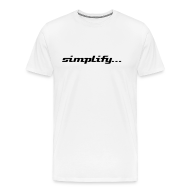 T-Shirts ~ Men's Premium T-Shirt ~ Simplify / Add Lightness : Heavyweight t-shirt- Natural w/ Black