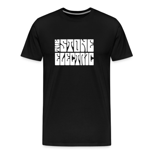 The Stone Electric Tee in Black with White logo - Men's Premium T-Shirt