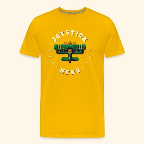 Joystick Hero 1 (Vintage Print) - Men's Premium T-Shirt